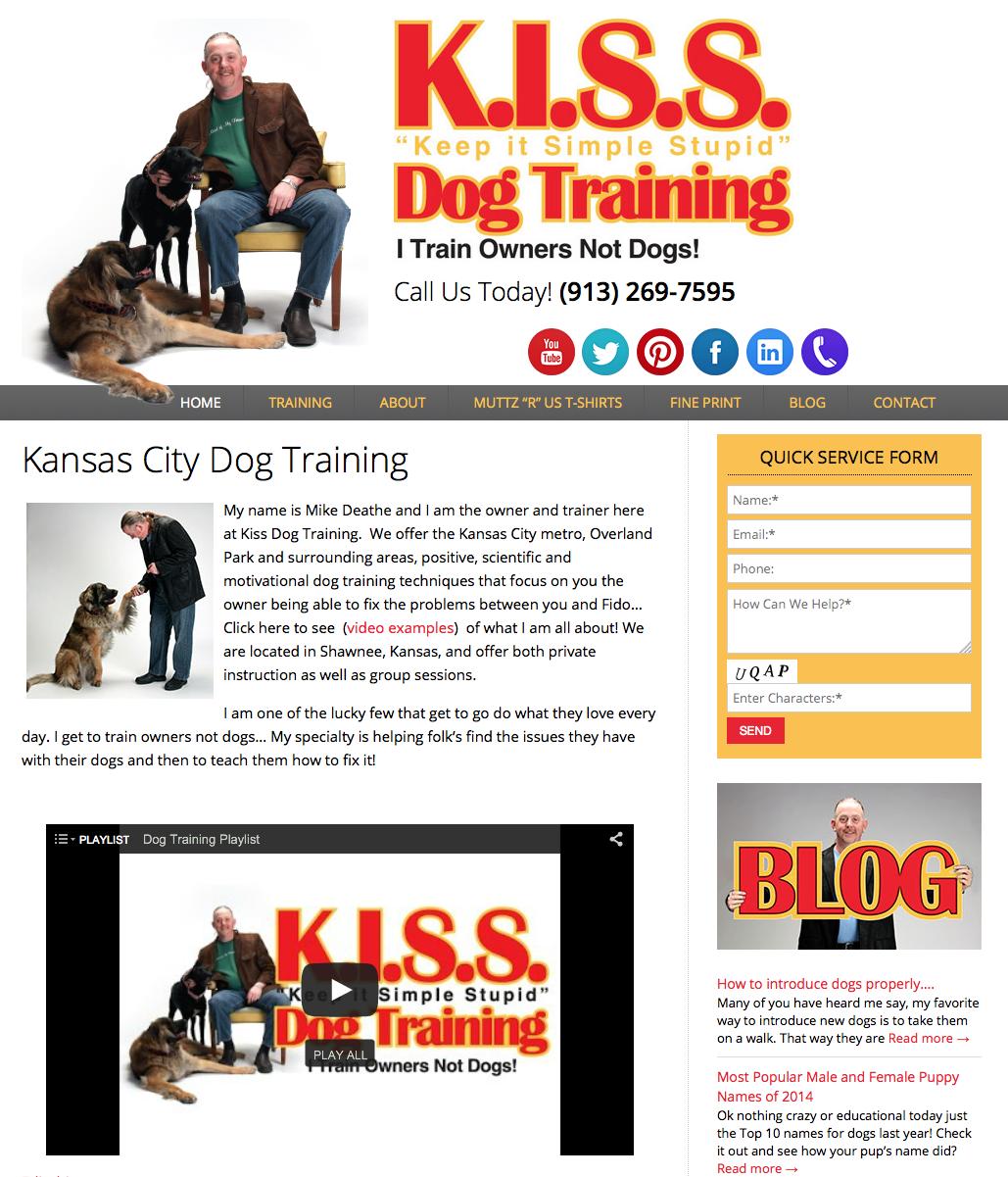 Keep it Simple Stupid  (KISS) Dog Training